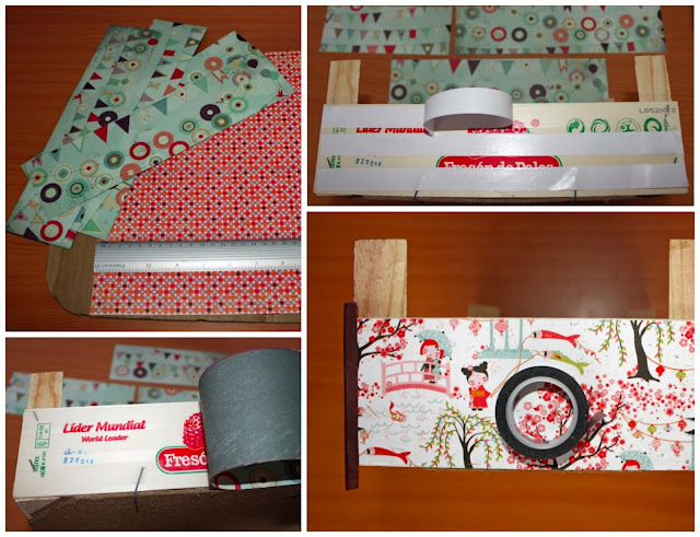 2 formas de reciclar cajas de fresas - Como forrar muebles con tela ...