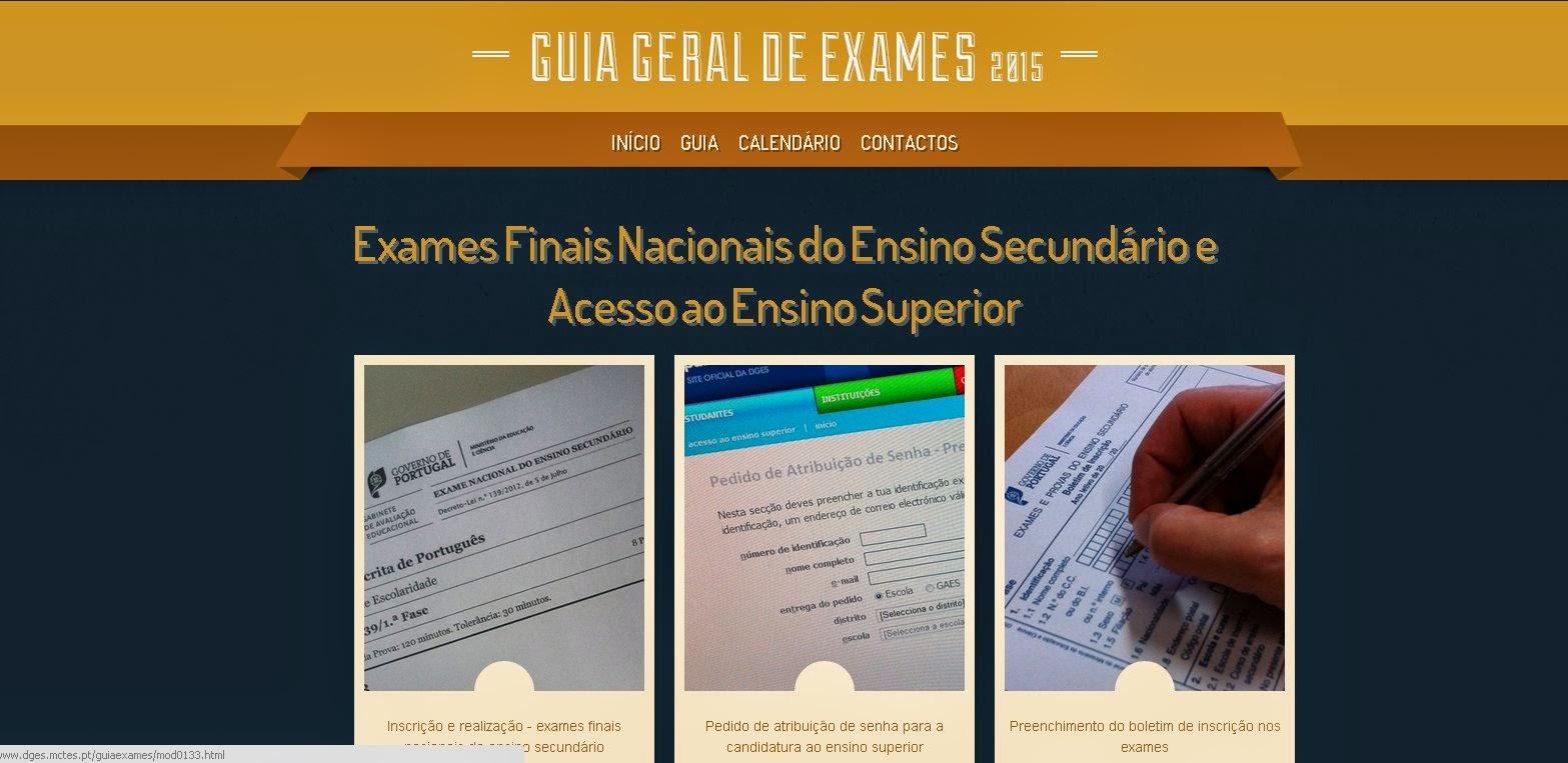 Guia Geral de Exames 2015
