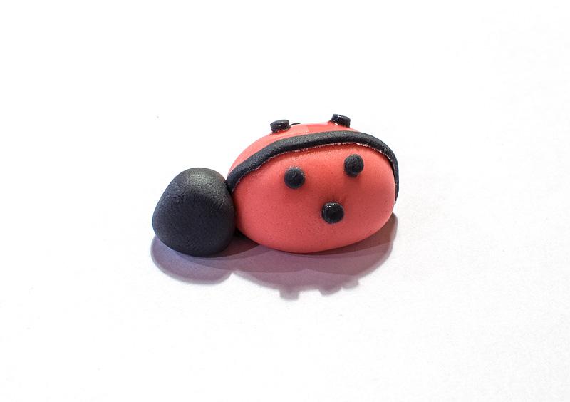 Ladybug fondant figure