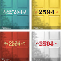 House Number Vinyl Door Decals