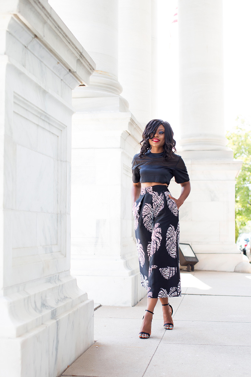 Solace London culottes, crop top, jadore-fashion.com