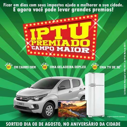 IPTU PREMIADO - A CIDADE GANHA