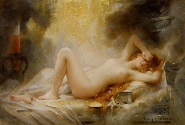 Danae,Leon Francois Comerre,french painter