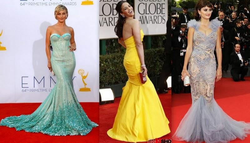 Modelo de vestido sereia com cauda - modelos e fotos