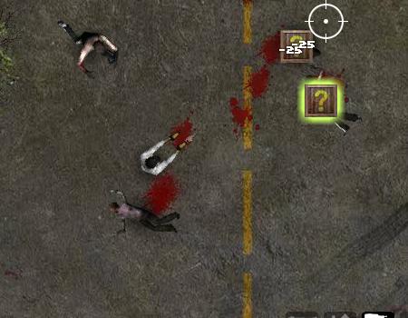 Jogos de zumbi: Undead Highway. Atropelar zumbis, matar eles com vários tipos de armas desde arma de bolhas até bazuca de misseis.