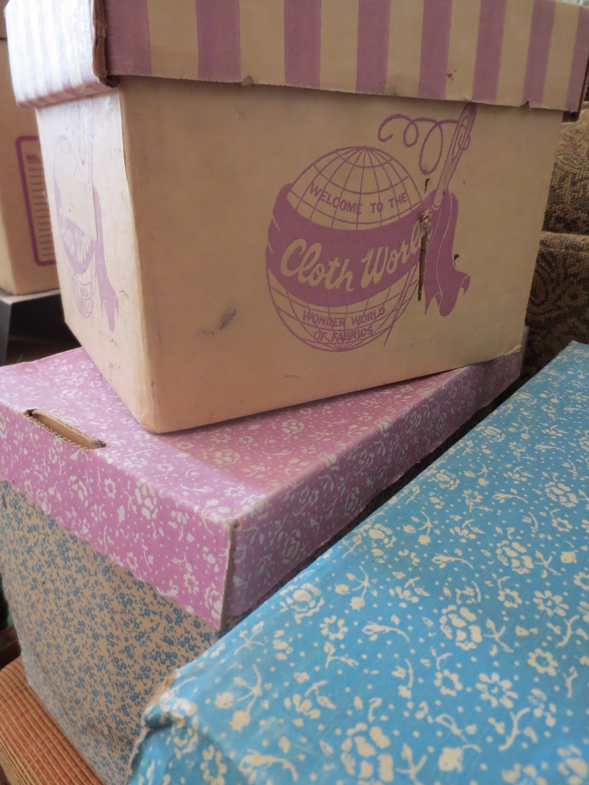Vintage Patterns in Cloth World Boxes Brentwood Lane
