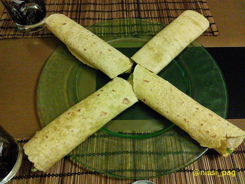 Una posible presentación de unos tacos de guacamole