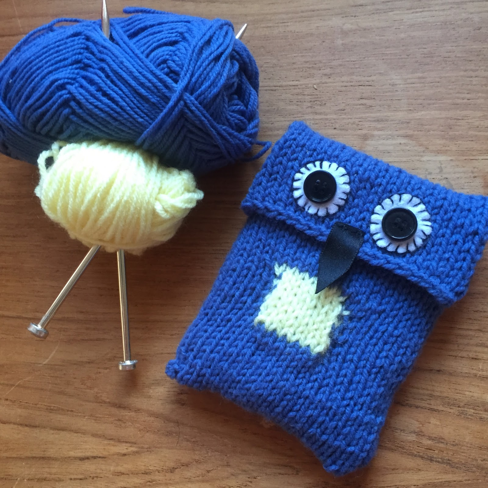 Knitted Blue Owl Cover for Portable Hard Drive | Garden, Tea, Cakes ...