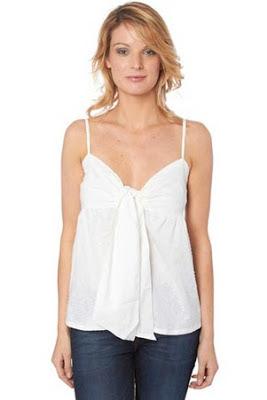 Camiseta de tirantes blanca de Folia para mujer