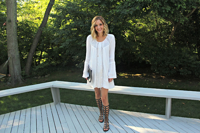 black and white boho outfit