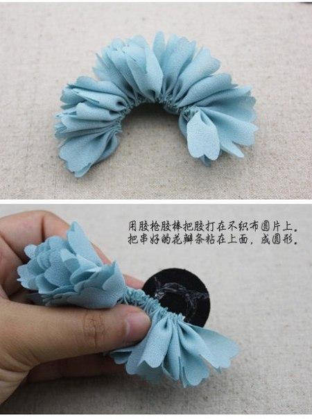 Как сделать резинку цветок