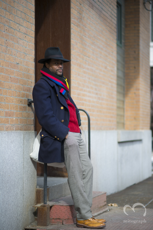 Streetstyle photographer Karl Edwin Guerre at New York Fashion Week 2014 Fall Winter NYFW