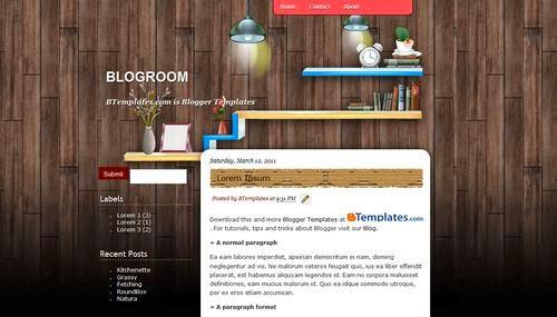 BlogRoom - Free Blogger Template