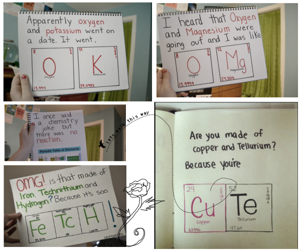 Hah, i love chemistry jokes. made this collage from some photos i