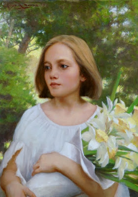pinturas-de-niñas-al-oleo