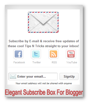 All In One New Cool Buttons Subscribe By Email Widget For Blogger