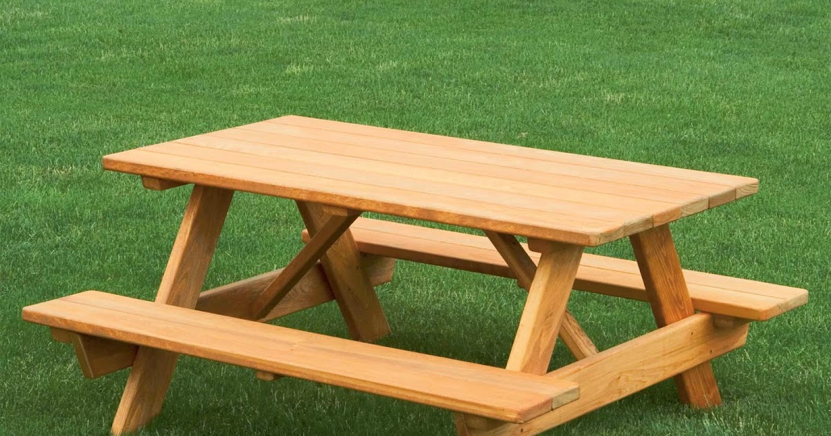 Woodworking Plans Reviewed How To Build A Picnic Table Step By - How to stain a picnic table
