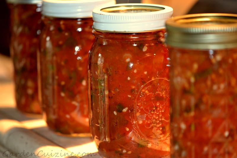 ... Jersey Tomato fresh Garden Salsa #canning #recipe #GardenCuizine