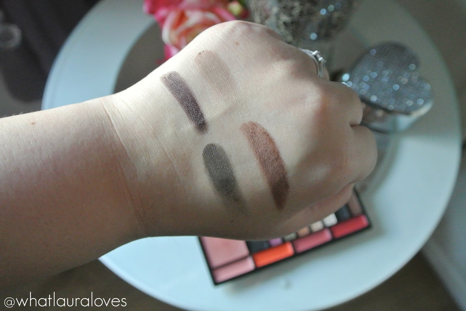 Freedom House of GlamDolls Exotica Doll Look Palette Lipstick Shades Brow Powder Shades and Swatches
