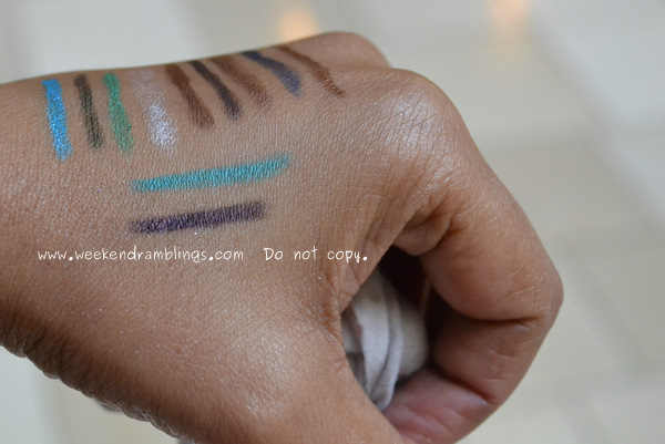 Sephora Urban Decay 24 7 glide on eyeliner pencils swatches Zero Ransom lust Gunmetal El Dorado 1999 deviant Flipside Electric stash graffiti yeyo bourbon Rockstar binge lucky Covet Oilslick