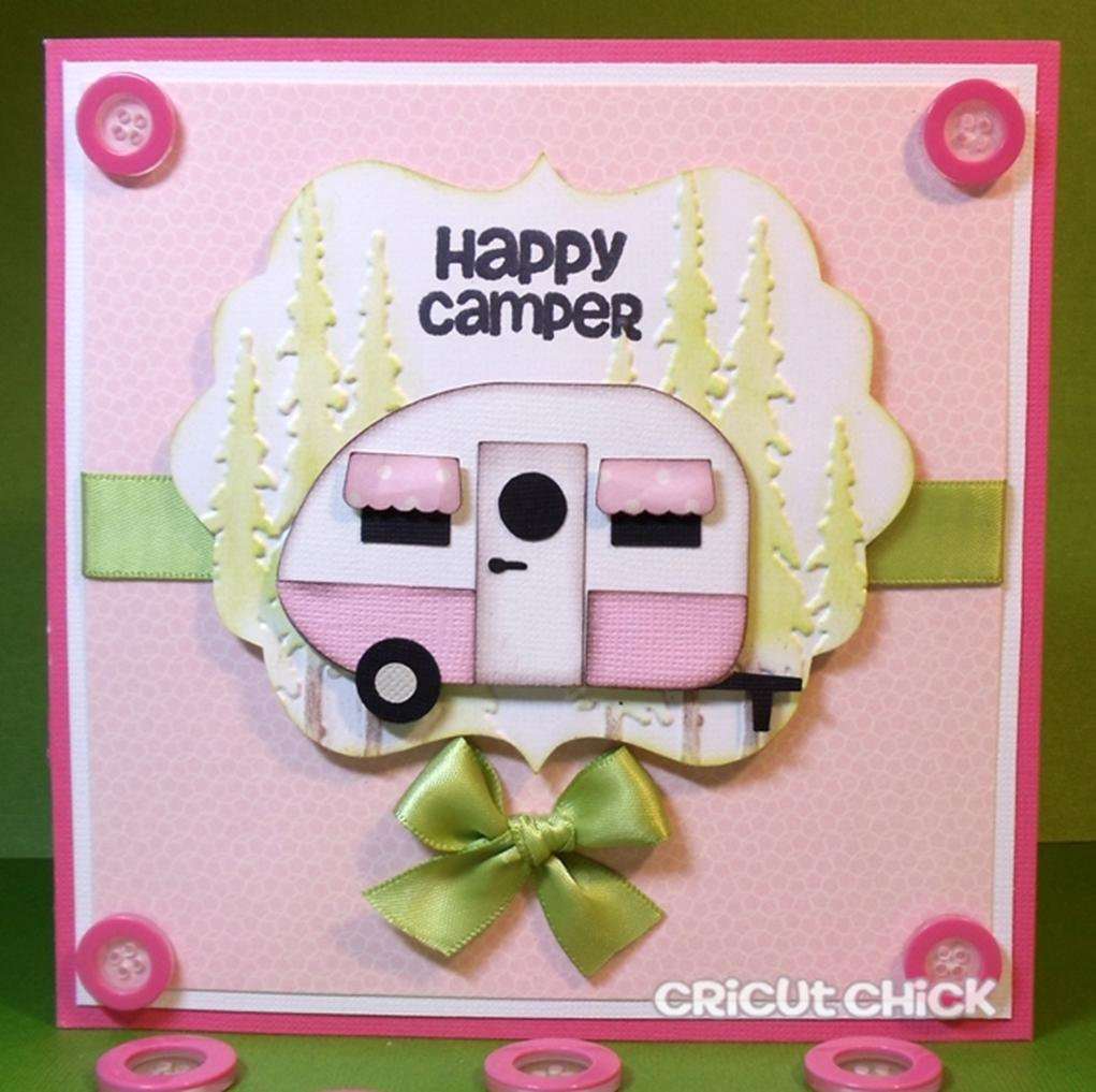 Simply Silhouette Happy Camper Card