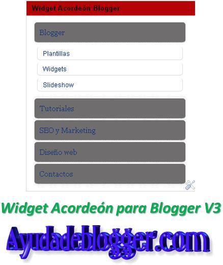 Widget Acordeón para Blogger V3
