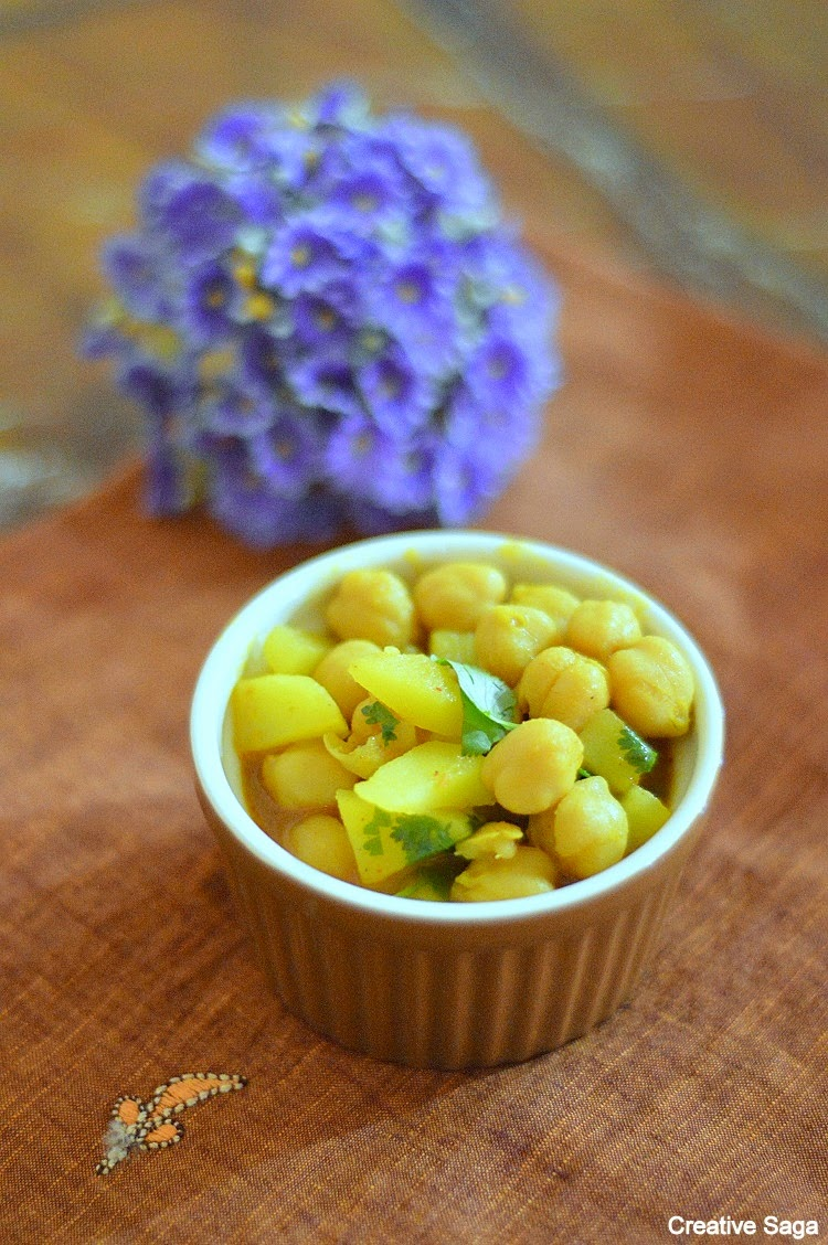no onion garlic chole recipe