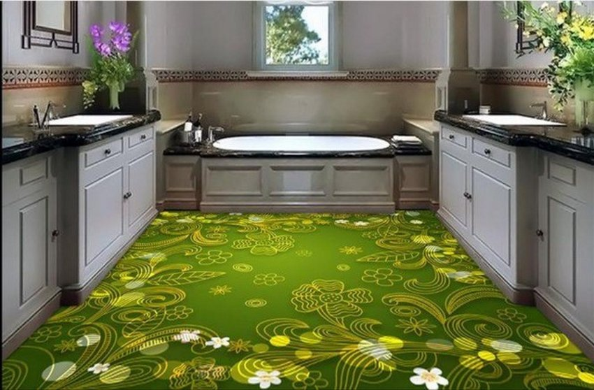 3D Floor On Kitchen 2
