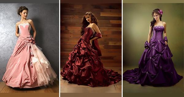 Die Braut: Farbige Brautkleider