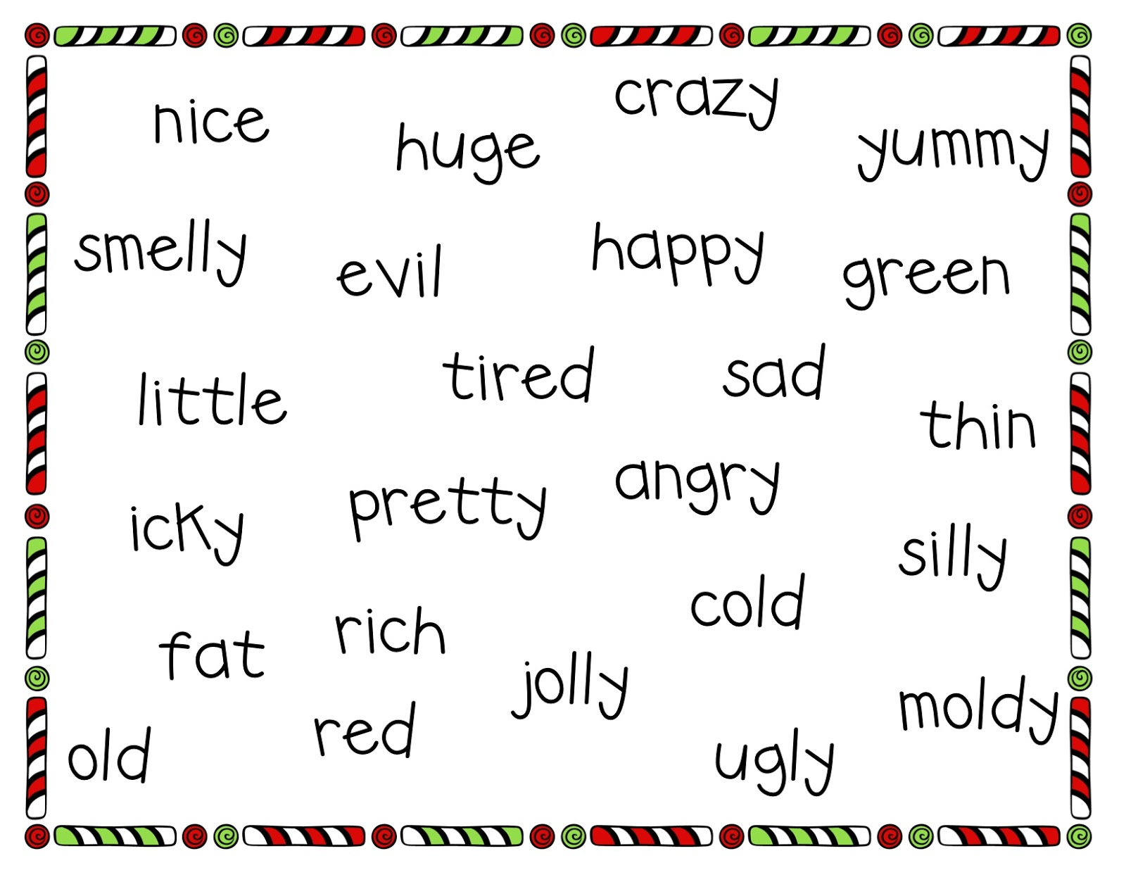 story with 20 adjectives Concentrate on adjectives and adverbs and help students express their thoughts   such as good/well and bad/badly insert adjectives and adverbs into a story   jd, became part of linguisystems' extended family more than 20 years ago.