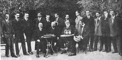 Participantes en el Torneo de Ajedrez de Barcelona en 1913