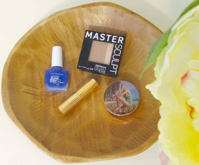 Maybelline Superstay Forever Strong Professional Nail Varnish in Surreal, Charlotte Tilbury Matte Revolution Lost Cherry, Maybelline Master Sculpt, Charlotte Tilbury Norman Parkinson Colour of Youth blusher