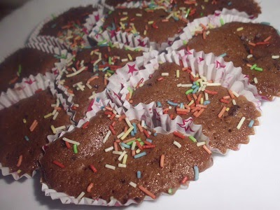 magdalenas de chocolate en el microondas