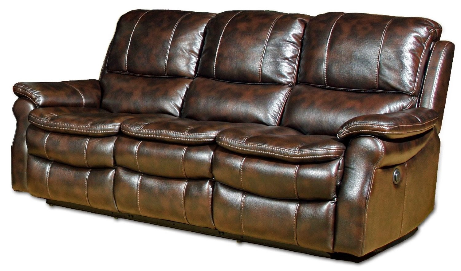 Reclining sofa loveseat and chair sets seth genuine for Leather reclining sofa