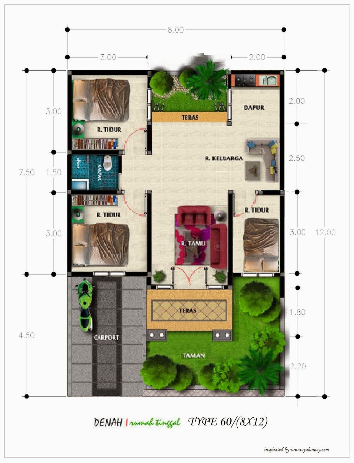 desain interior rumah minimalis type 60 gambar rumah