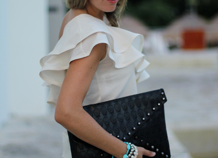 Fashion inspiration: ruffles and skulls