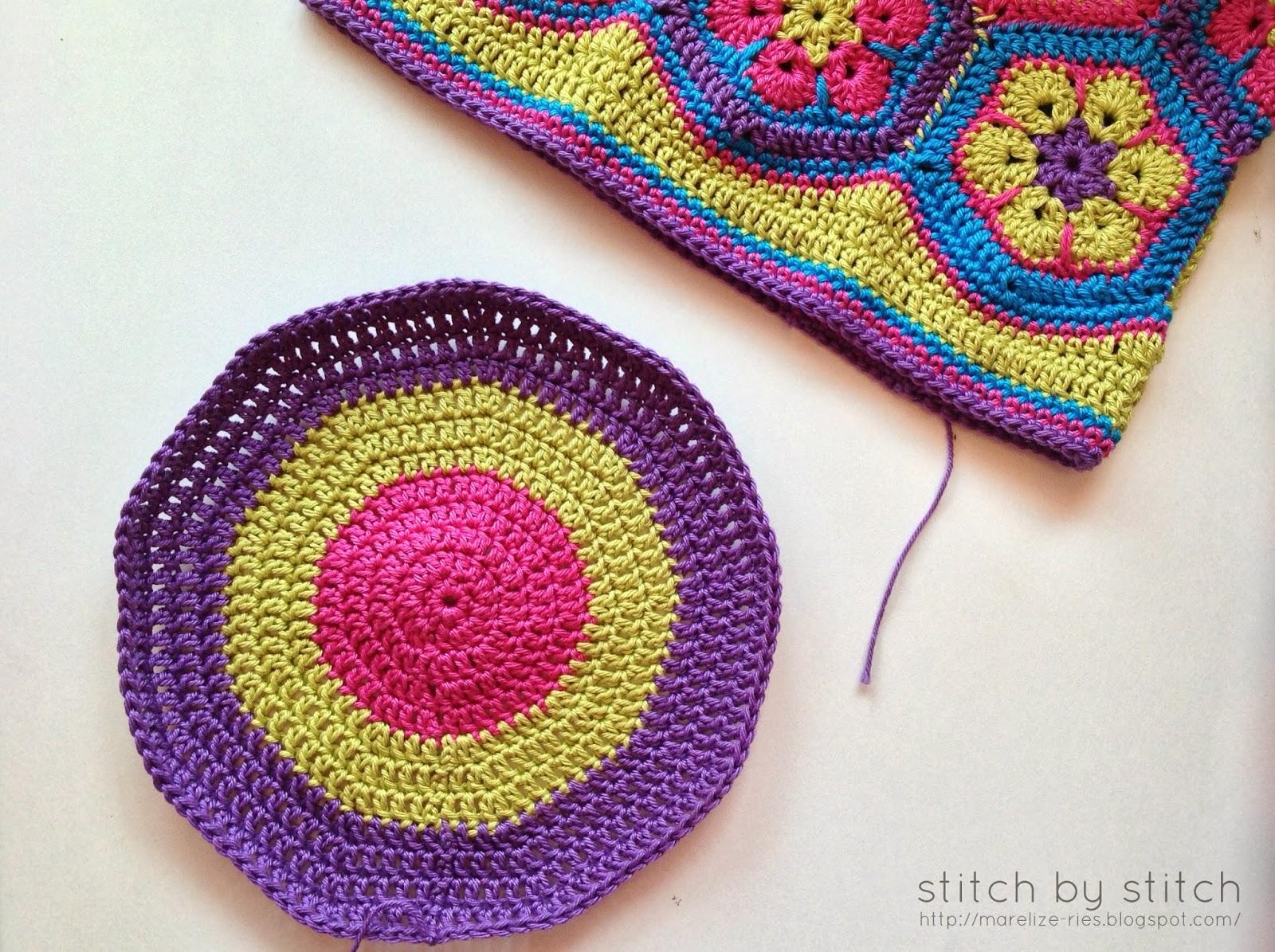 African Flower Crochet Pattern Tutorial : Stitch by Stitch: African Flower Crochet Bag - Lining Tutorial