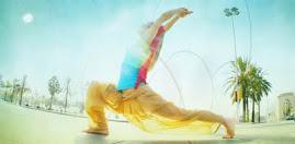 Posando para la Barcelona Yoga Conference