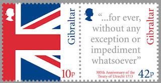 Gibraltar: 300th Anni. Treaty of Utrecht - http://www.gibraltar-stamps.com/