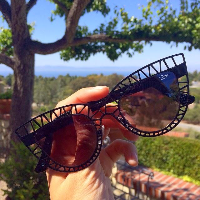 "Quay Australia Sunglasses, Quay Black  ""Steel Cat"" Sunglasses, Quay Sunglasses, Quay cat eye Sunglasses"
