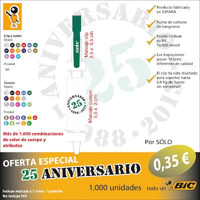 Oferta especial 25 Aniversario