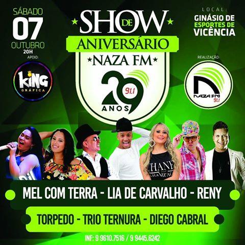 SHOW DE ANIVERSÁRIO DA NAZA FM