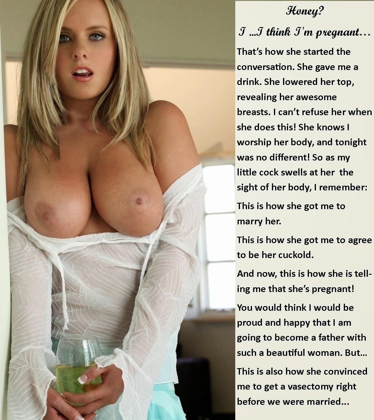 Wife cuckold captions pregnant