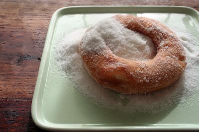 Homemade Sugared Raised Doughnuts