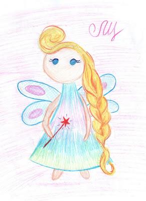 Маленькая фея рисунок