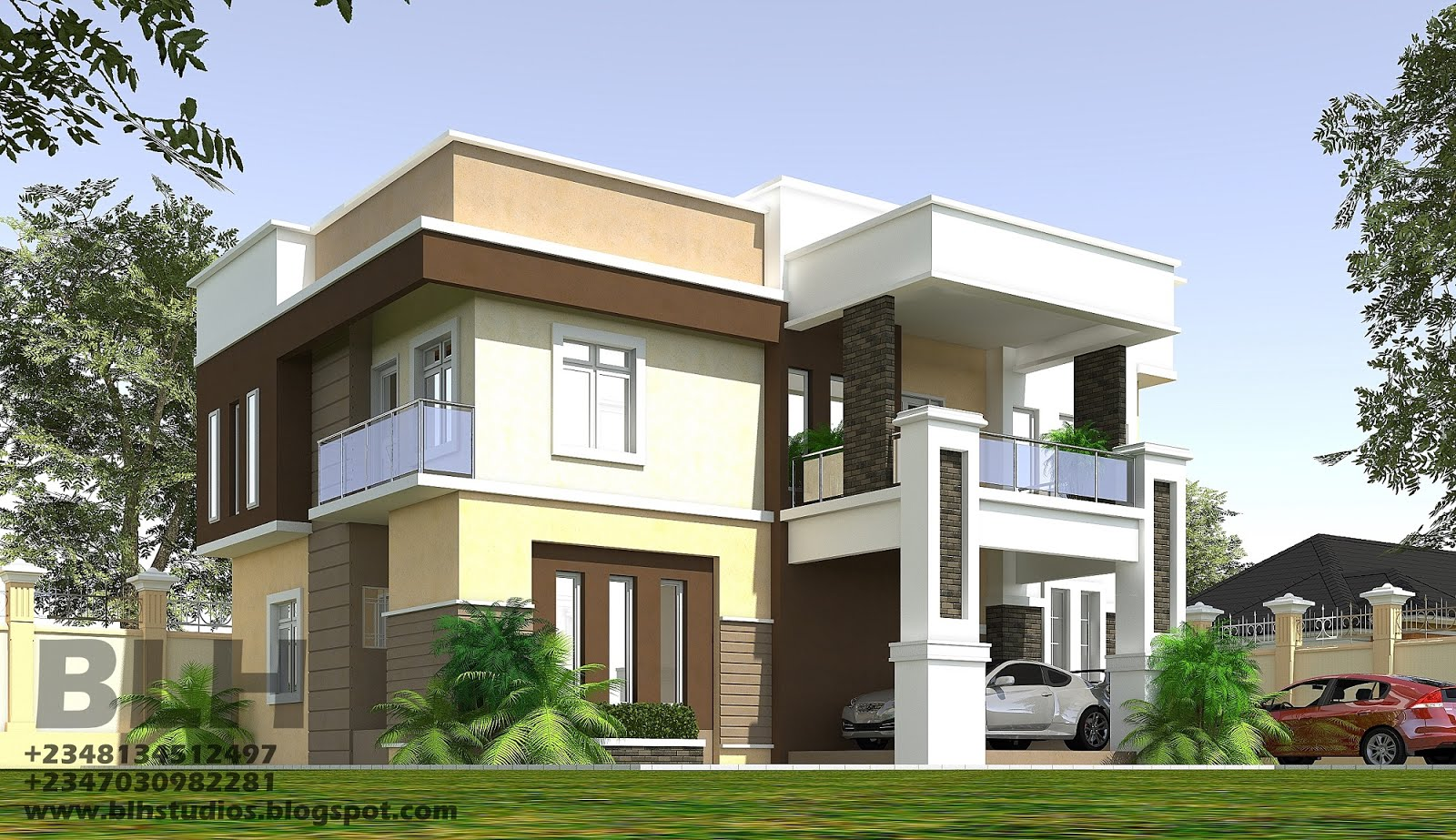 Architectural designs by blacklakehouse 2 bedroom for Flat roof bungalow designs