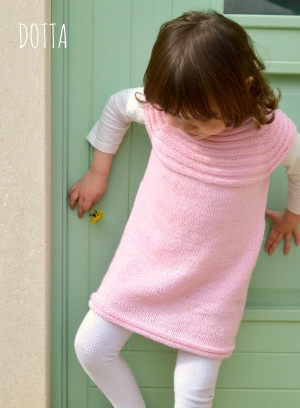 Little Sister's Dress knitted by Dotta