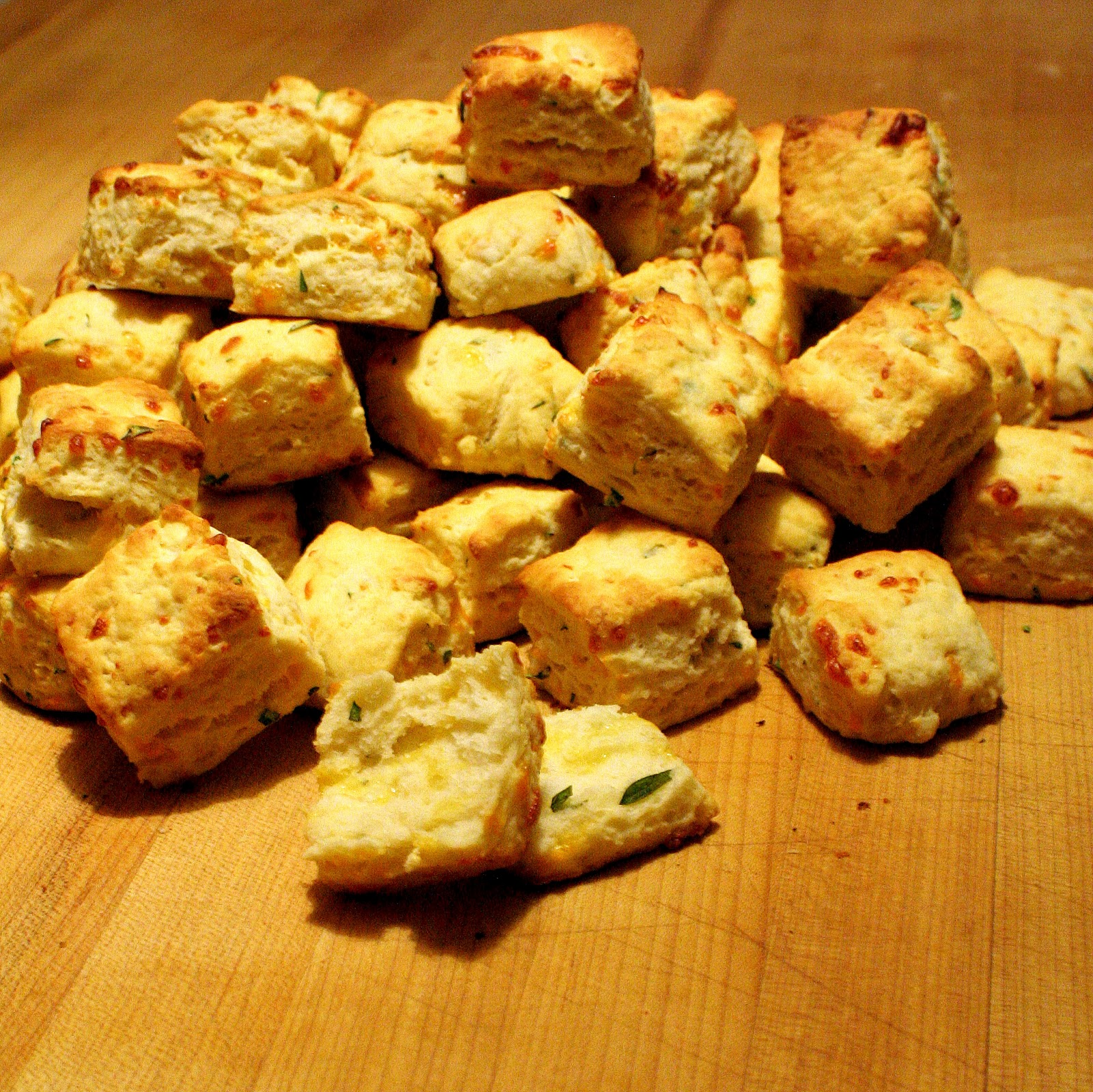 How to Make a Mess in the Kitchen: Savory Cheddar Biscuits