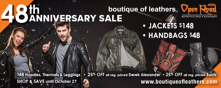 Boutique of Leathers - Rider Friendly Special Offer!