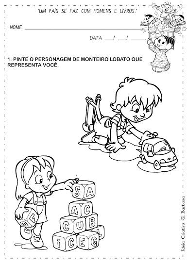 Álbum de Atividades Dia do Livro Infantil